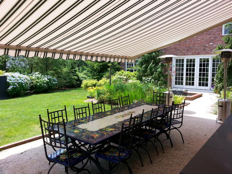... Retractable Patio Awning · Dining Under Retractable Awning