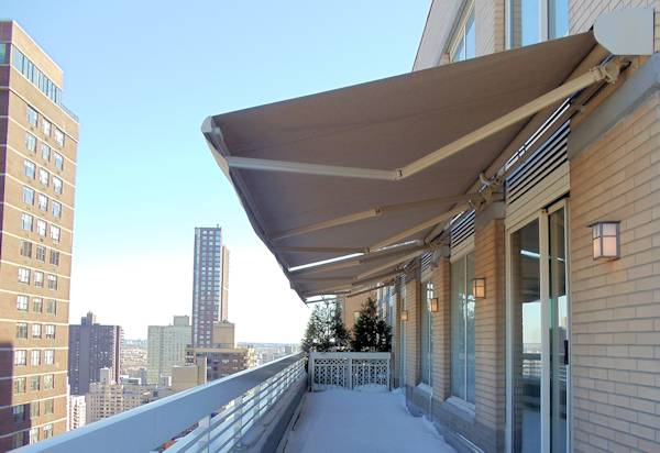Retractable Awnings On Penthouse NYC
