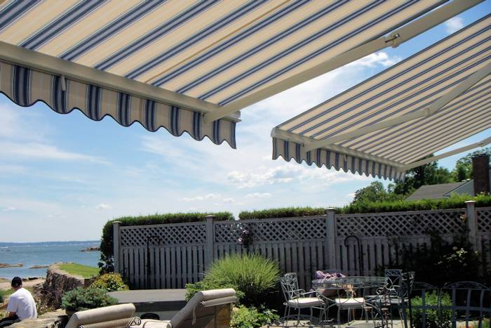 ... Under Two Retractable Awnings, Rye, NY · Retractable Patio ...