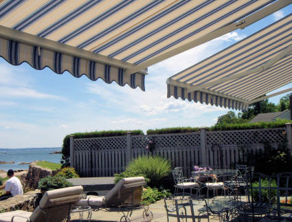 Adjustable Arm Retractable Awning Double Awnings