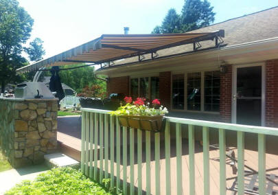 Roof Mounted Awning With Drop Valance Roof Mount Awning